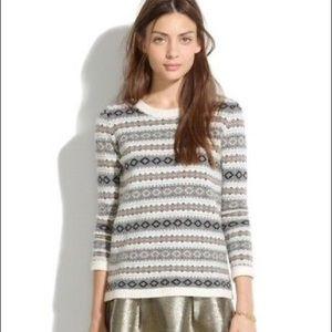 Madewell Modern Fairisle Merino Wool Sweater
